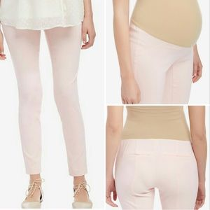 Pink Maternity Cropped Pants